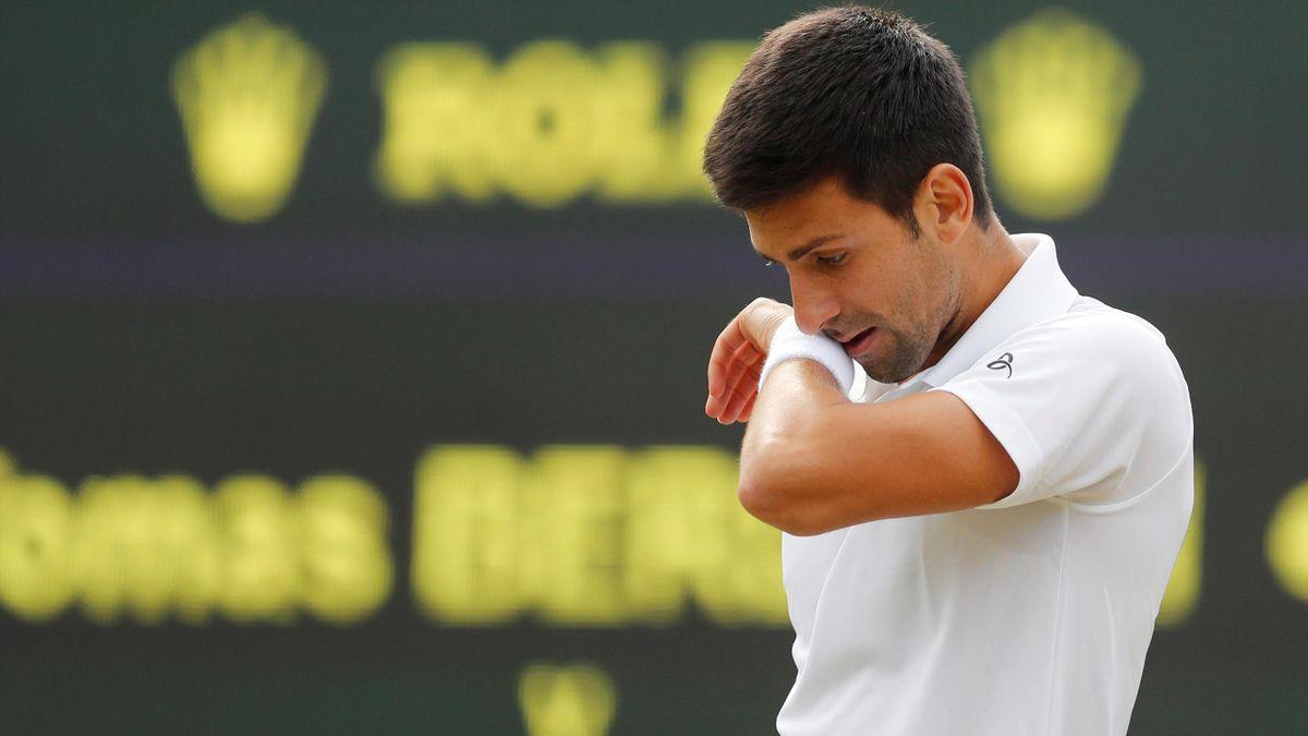 Serbia's Novak Djokovic during his quarter final match against Czech Republic's Tomas Berdych