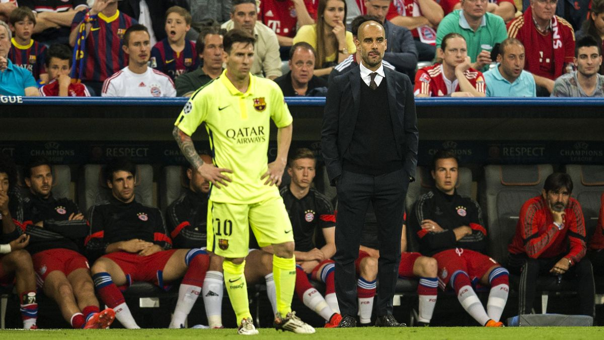 Leo Messi și Pep Guardiola