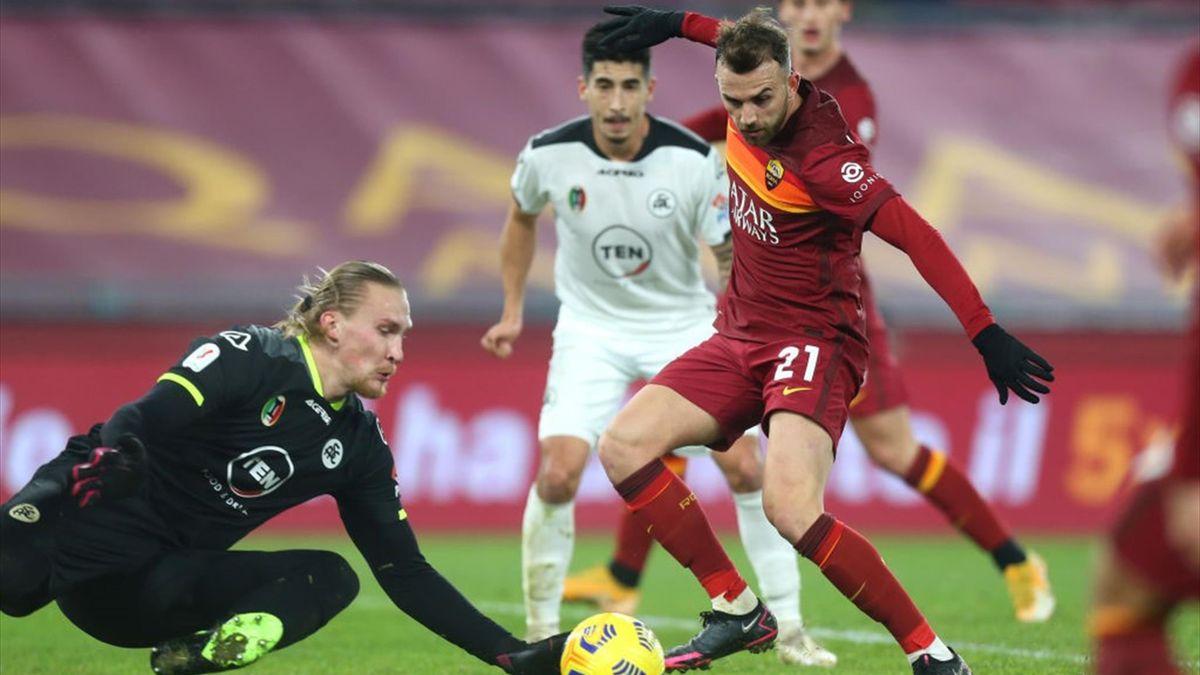 Borja Mayoral - Roma-Spezia - Coppa Italia 2020/2021 - Getty Images