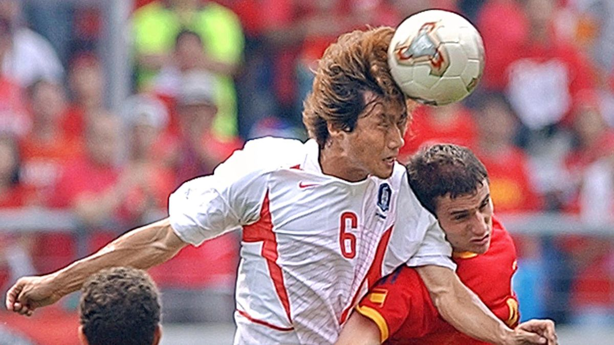 Yoo Sang-chul lors du Mondial 2002.