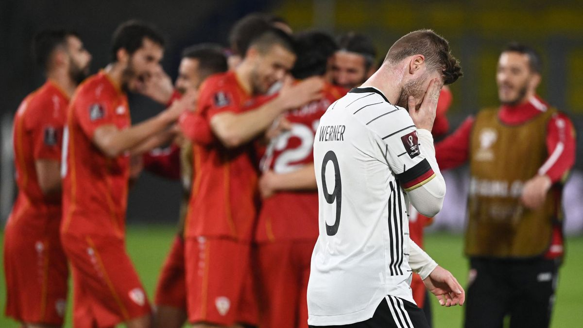 Timo Werner ist nach der Niederlage gegen Nordmazedonien sichtlich enttäuscht