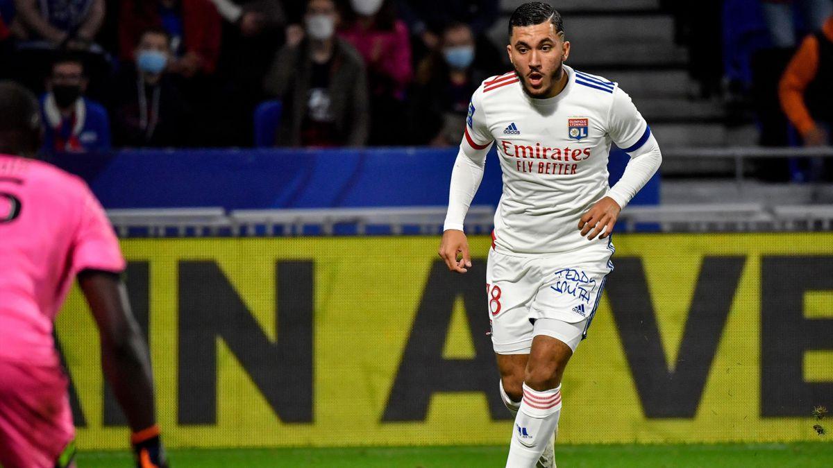 Le joueur de l'OL Ryan Cherki, face à Dijon en Ligue 1