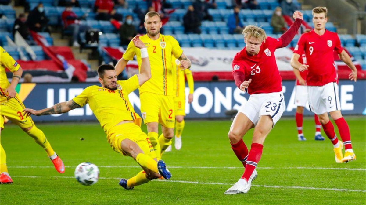 Norvegia - Romania. Haaland în acțiune
