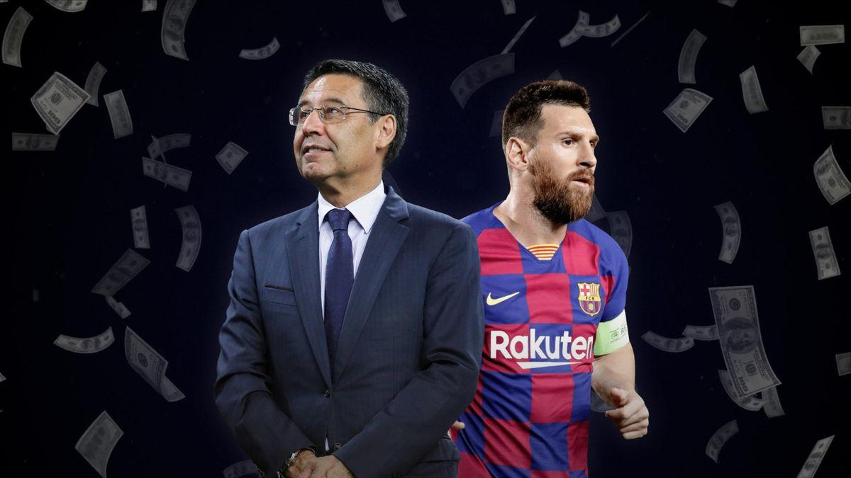 Josep Bartomeu and Lionel Messi