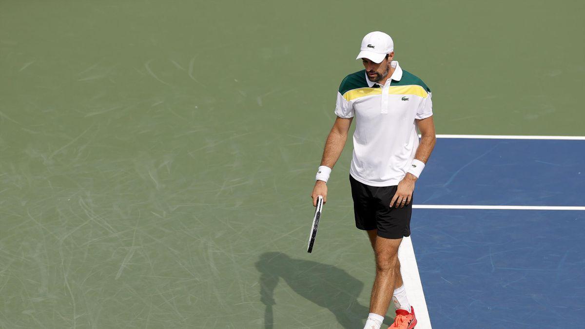 Jérémy chardy lors de son 1er tour face à Matteo Berrettini à l'US Open 2021