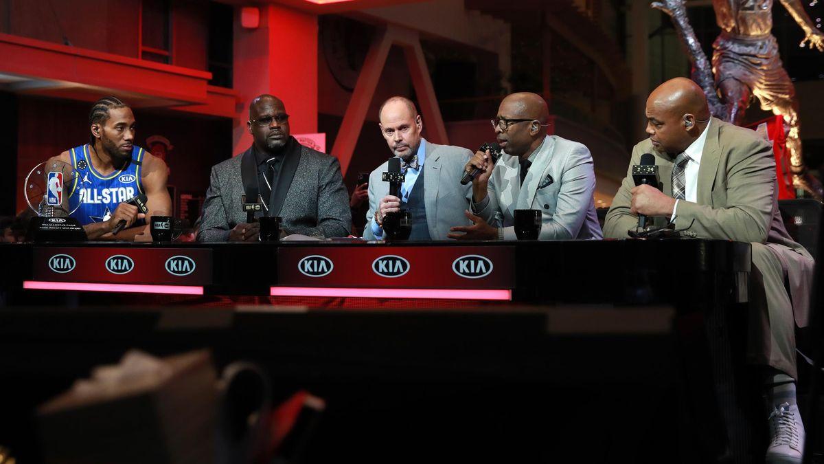 Le plateau d'Inside NBA, émission phare de TNT