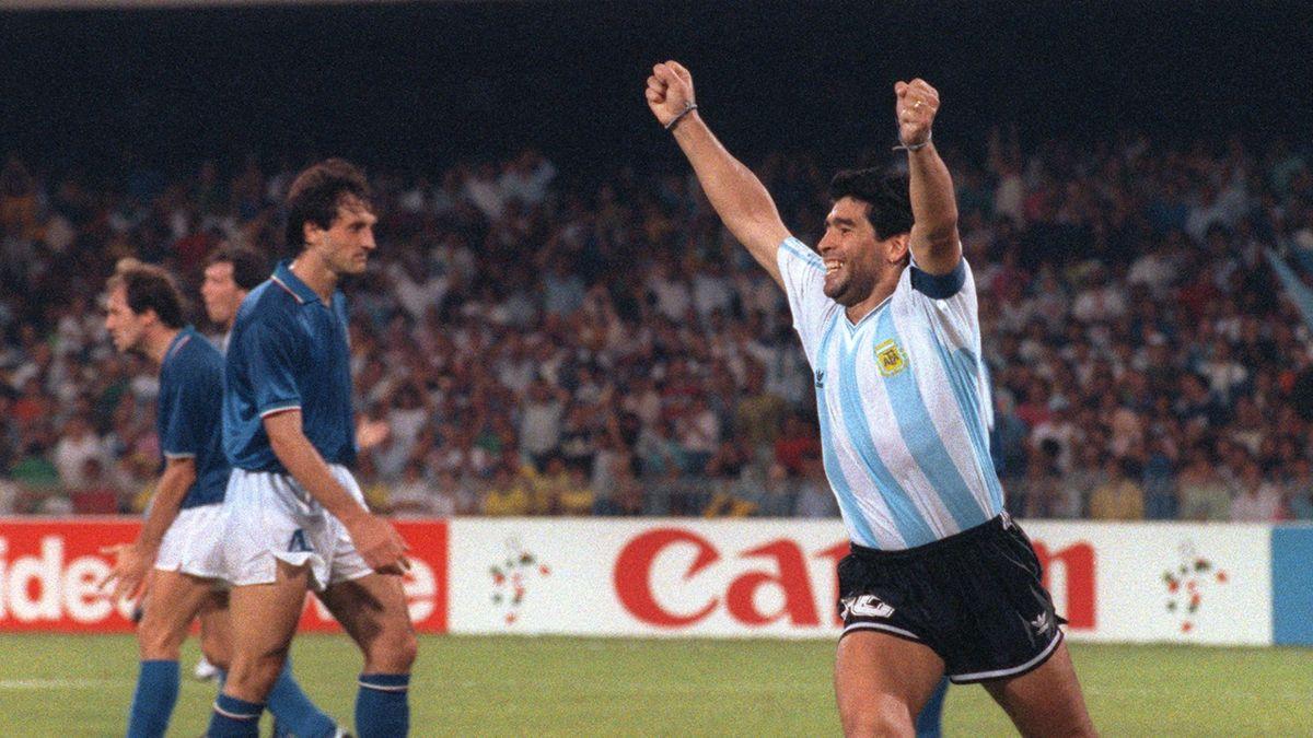 Diego Maradona lors d'Italie-Argentine, Coupe du monde 1990