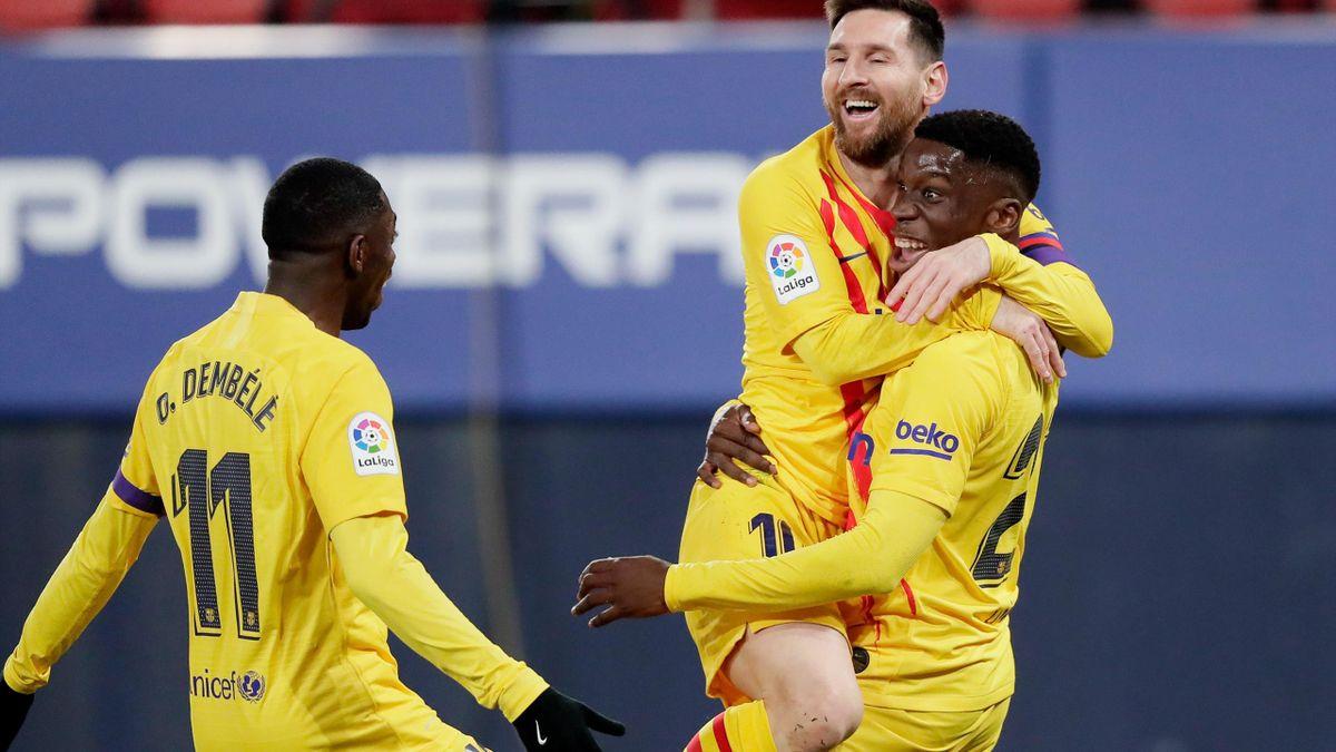Ilaix Moriba & Leo Messi