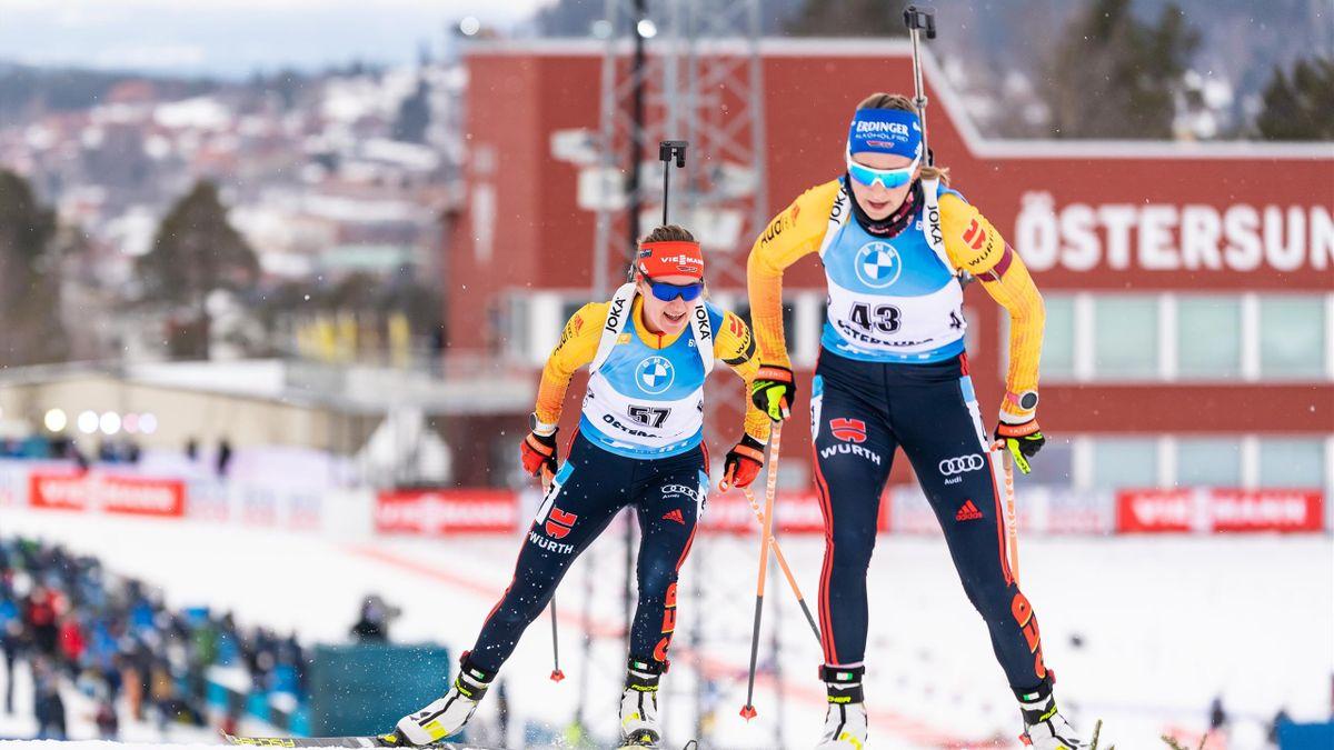 Franziska Preuß beim Biathlon-Weltup in Östersund 2021