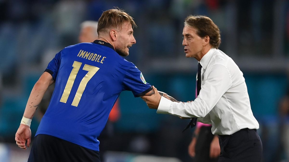 Ciro Immobile e Roberto Mancini