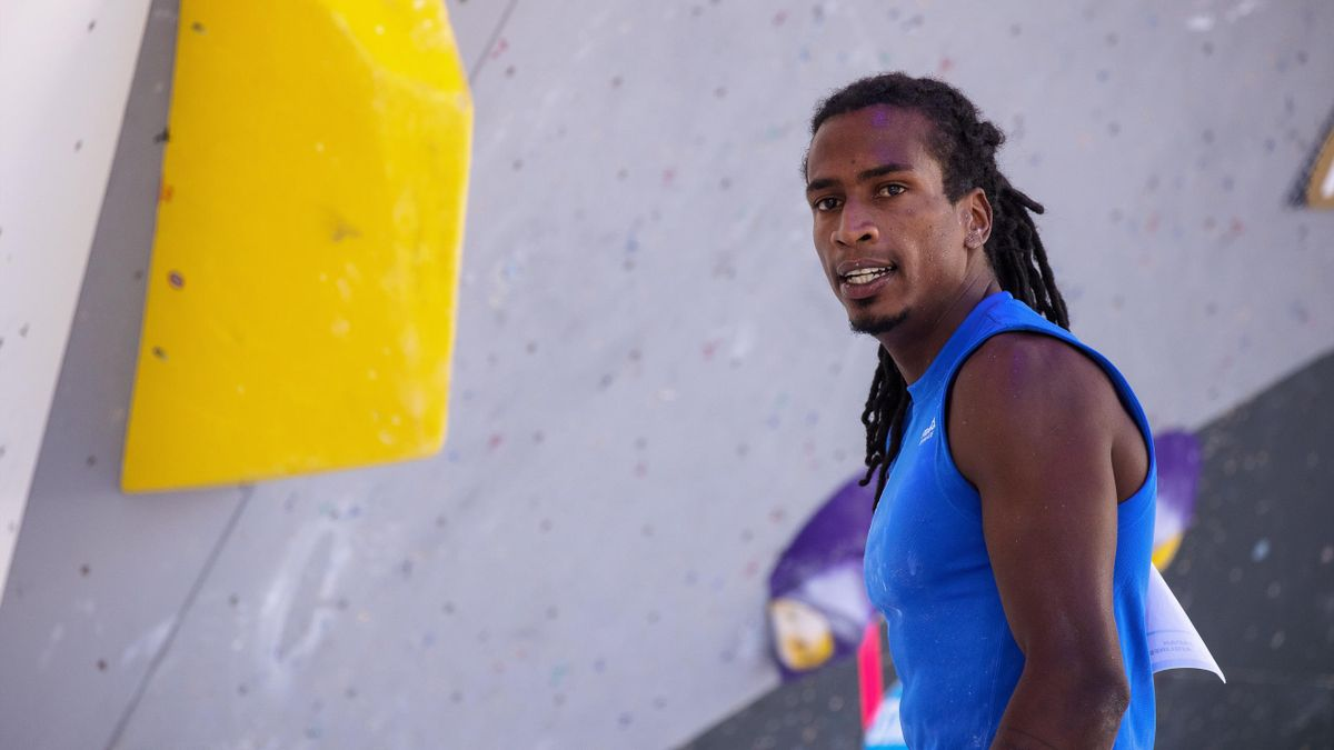 Mickael Mawem, l'un des représentants de l'équipe de France d'escalade aux Jeux Olympiques de Tokyo 2020