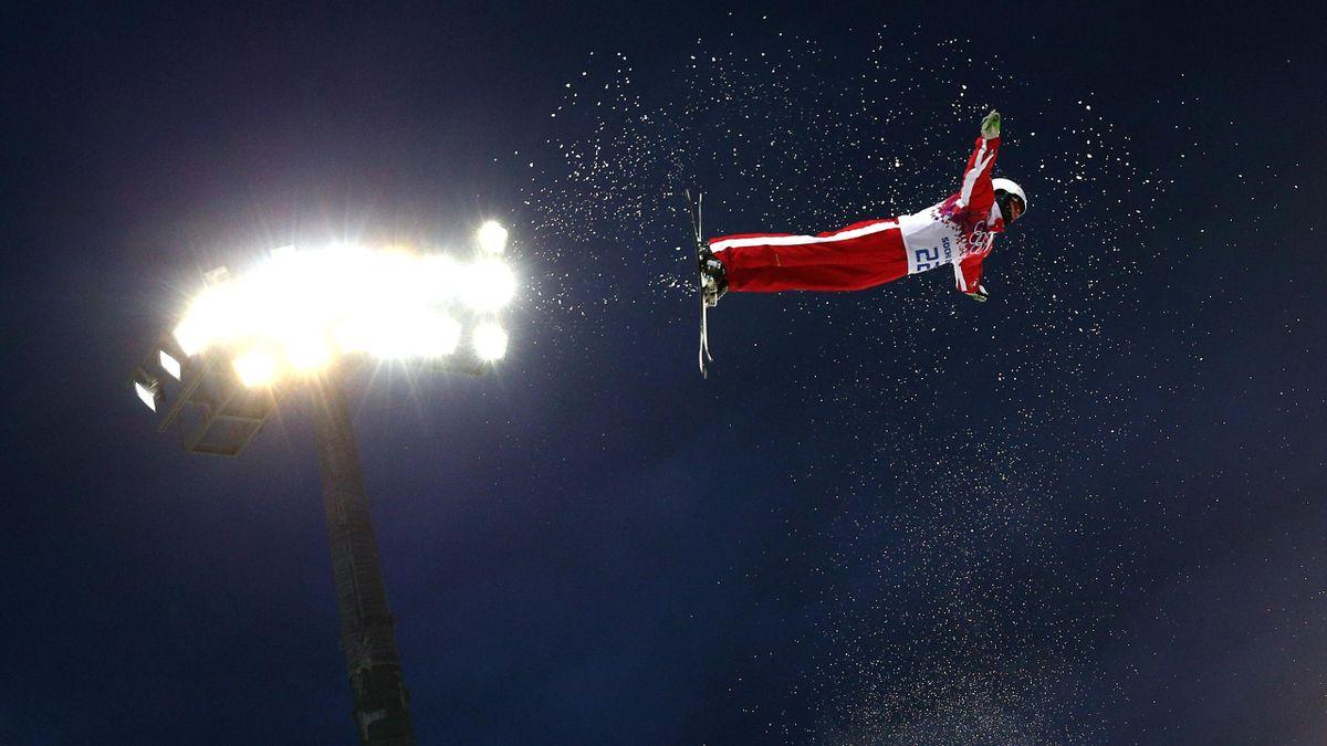 Mischa Gasser impegnato durante le Olimpiadi di Sochi 2014