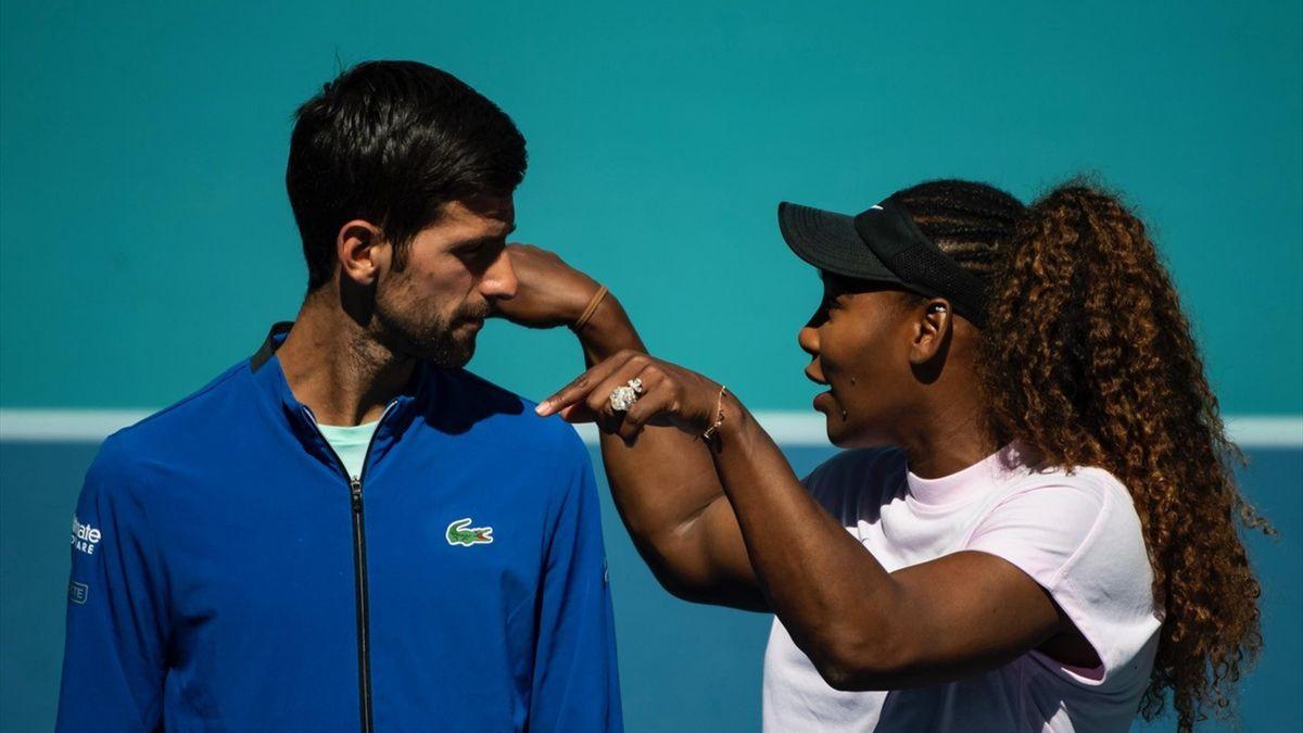 Novak Djokovic en Serena Williams