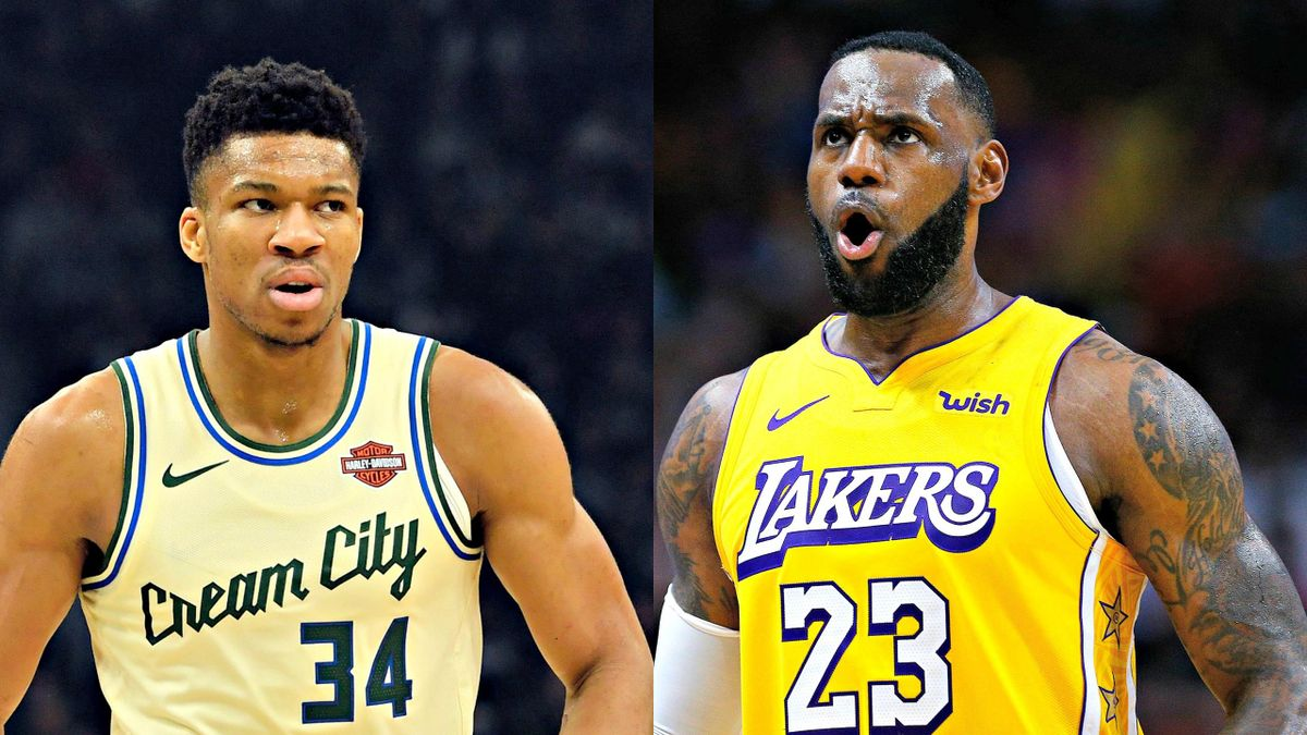 Giannis Antetokounmpo (Milwaukee Bucks) - LeBron James (Los Angeles Lakers)