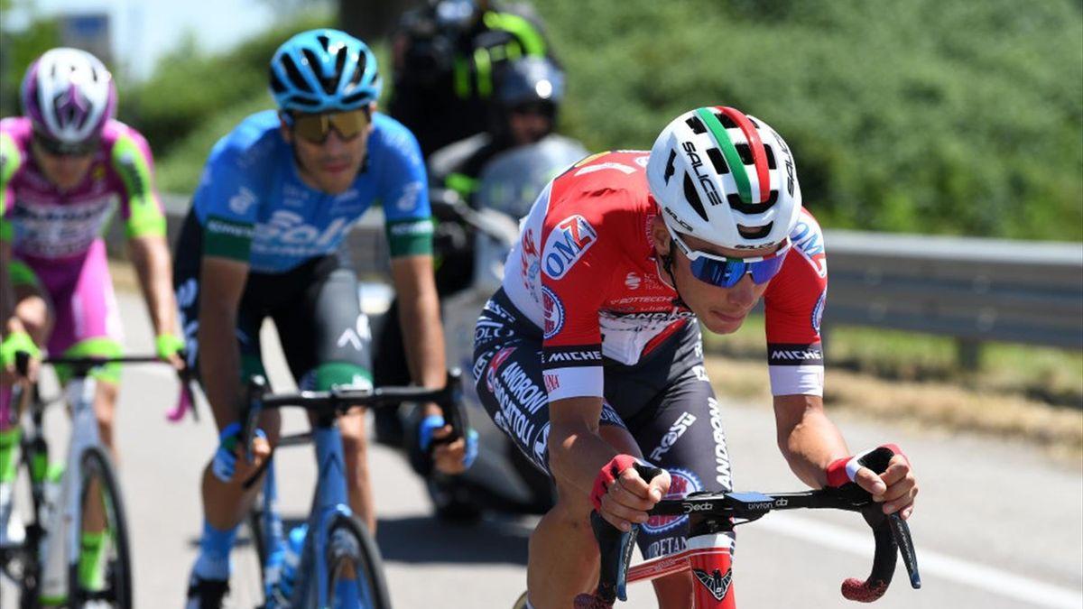 Simon Pellaud durante la fuga della 13a tappa - Giro d'Italia 2021