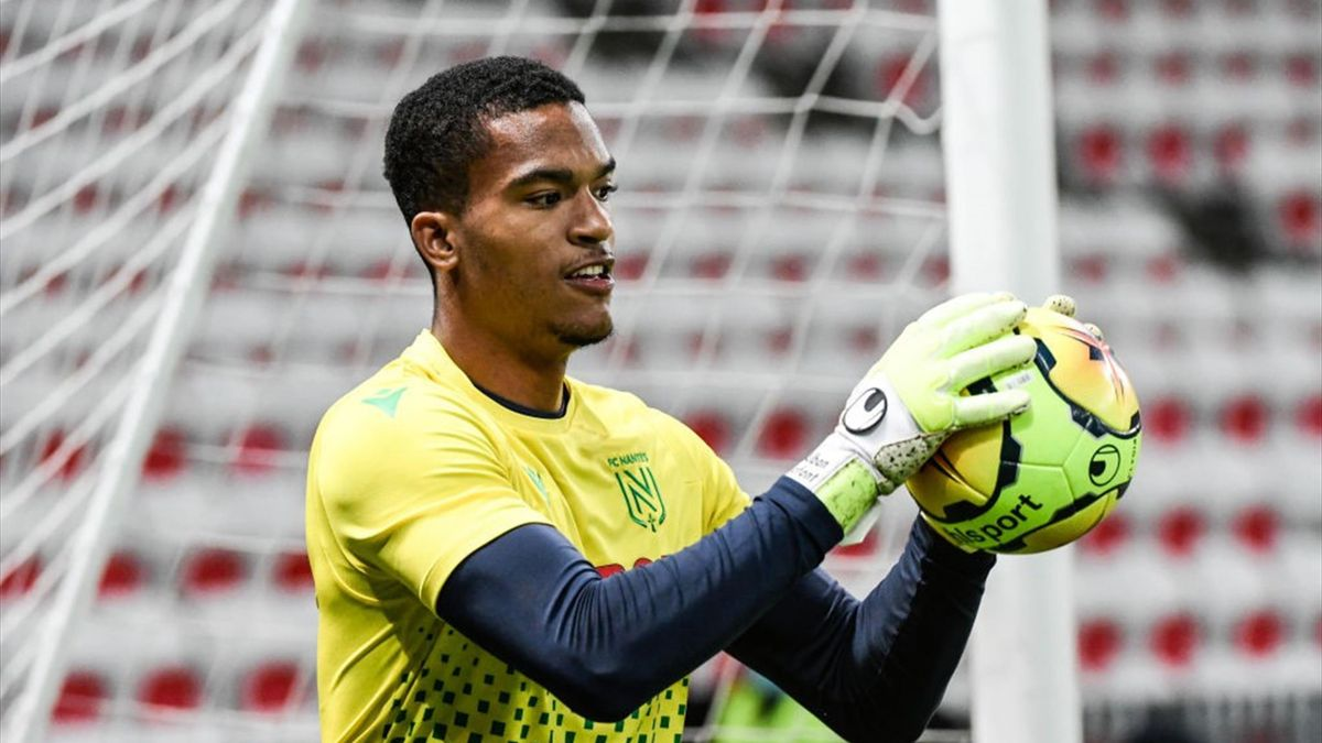 Alban Lafont avant Nice - Nantes en Ligue 1 le 3 octobre 2020