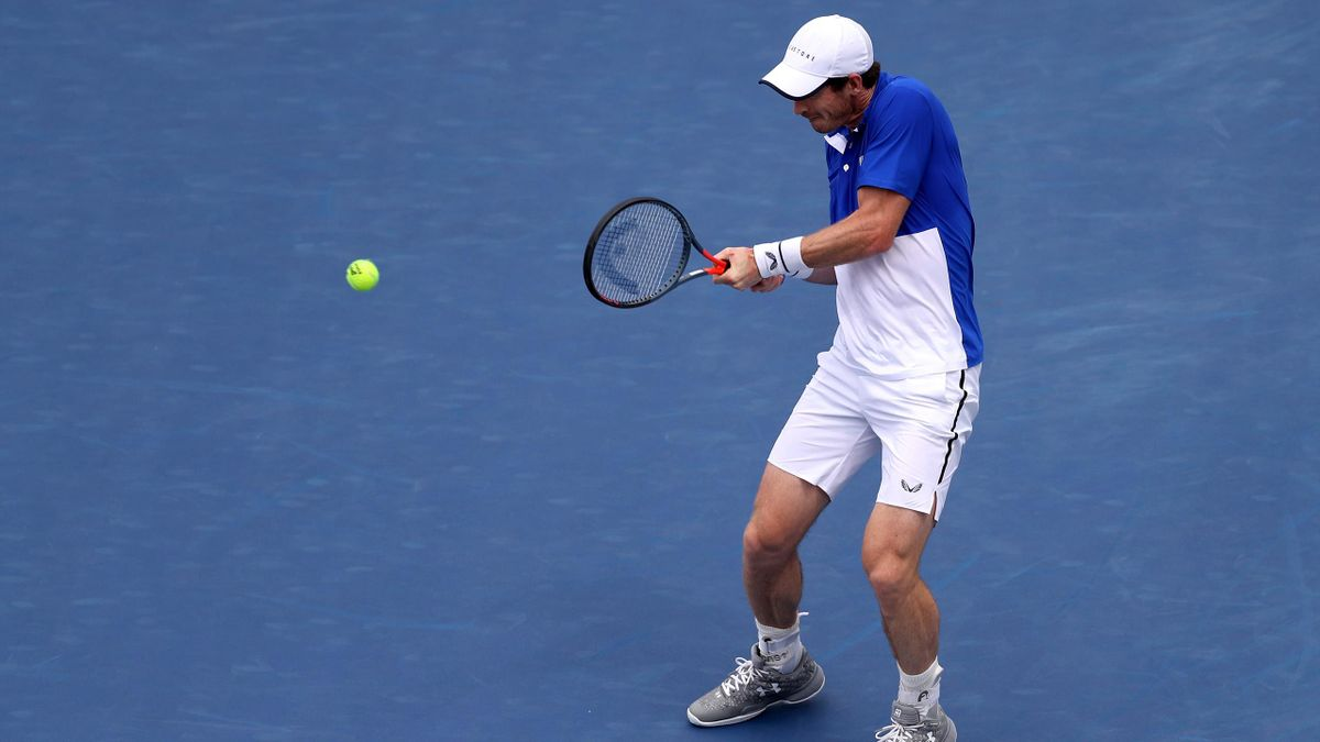 Andy Murray of Great Britain returns a shot to Richard Gasquet of France during Day 3 of the Western and Southern Open at Lindner Family Tennis Center on August 12, 2019 in Mason, Ohio