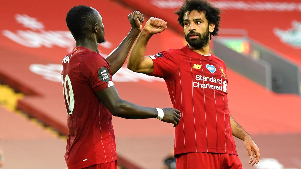 Sadio Mané und Mohamed Salah vom FC Liverpool