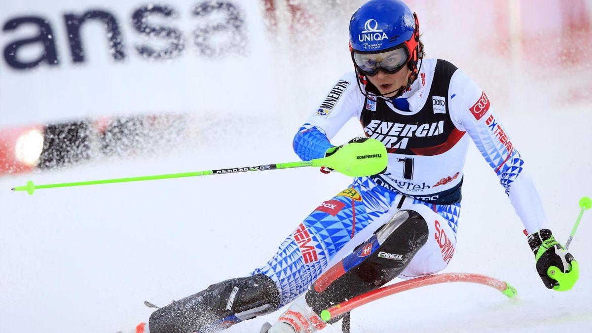 Petra Vlhova of Slovakia in action during the Audi FIS Alpine Ski World Cup Women's Slalom on January 4, 2020 in Zagreb Croatia