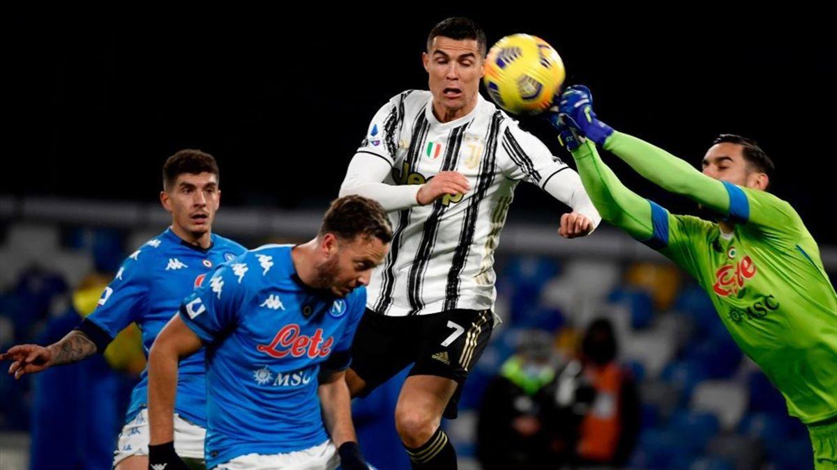 Meret su Ronaldo - Napoli-Juventus - Serie A 2020/2021 - Getty Images