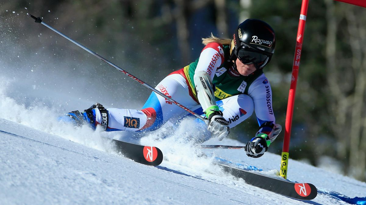 Lara Gut lors du géant d'Aspen