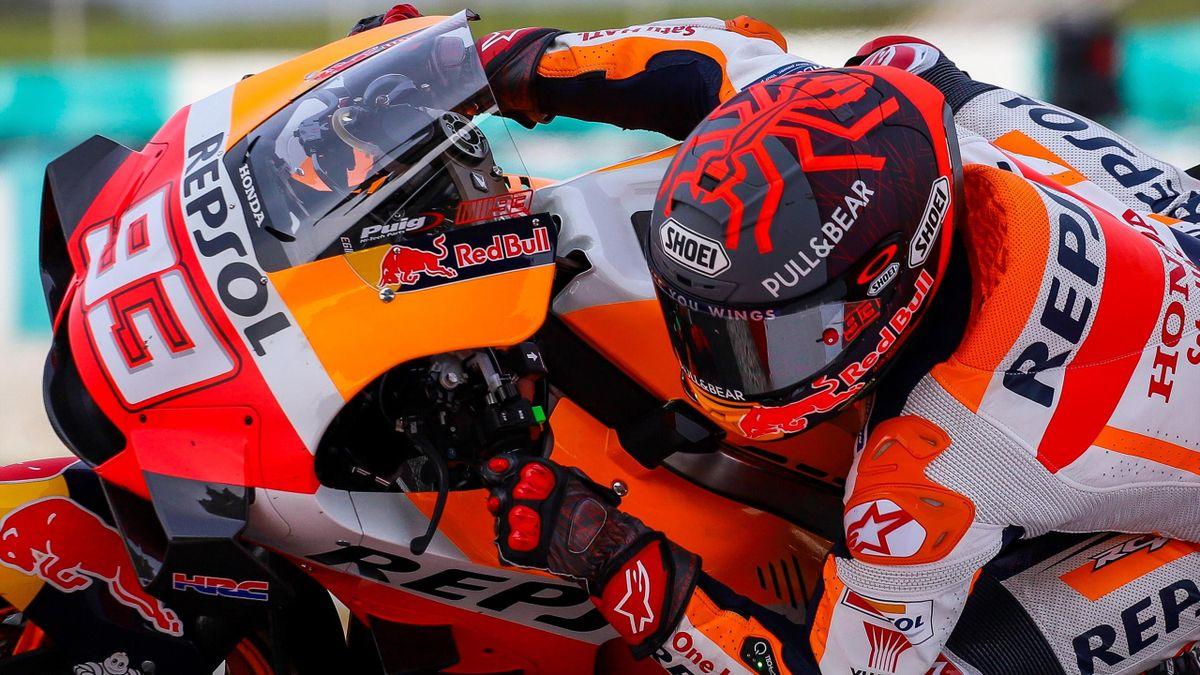 Marc Marquez (Honda HRC) lors des essais hivernaux à Sepang, en Malaisie, le 8 février 2020