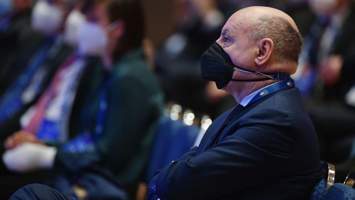 Giuseppe Marotta, amministratore delegato dell'Inter, ad un'assemblea in FIGC - Getty Images