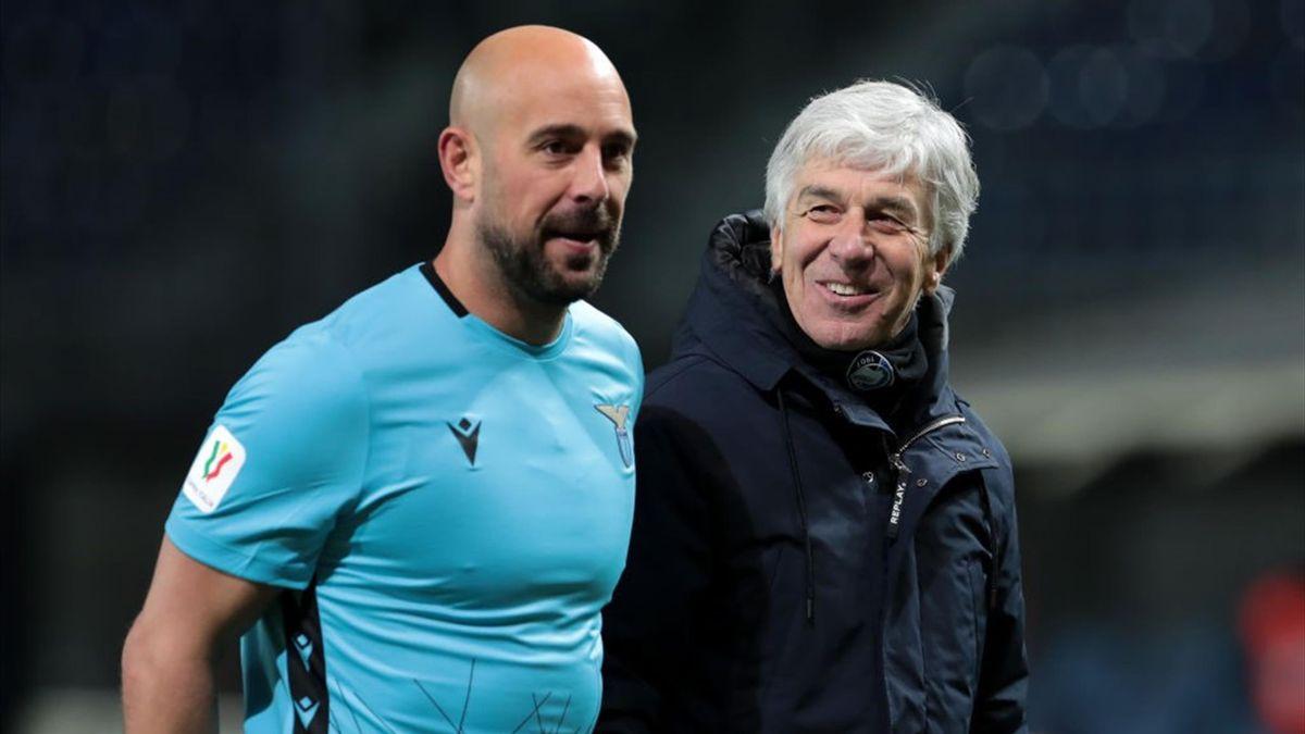 Gasperini, Reina - Atalanta-Lazio - Coppa Italia 2020/2021 - Getty Images