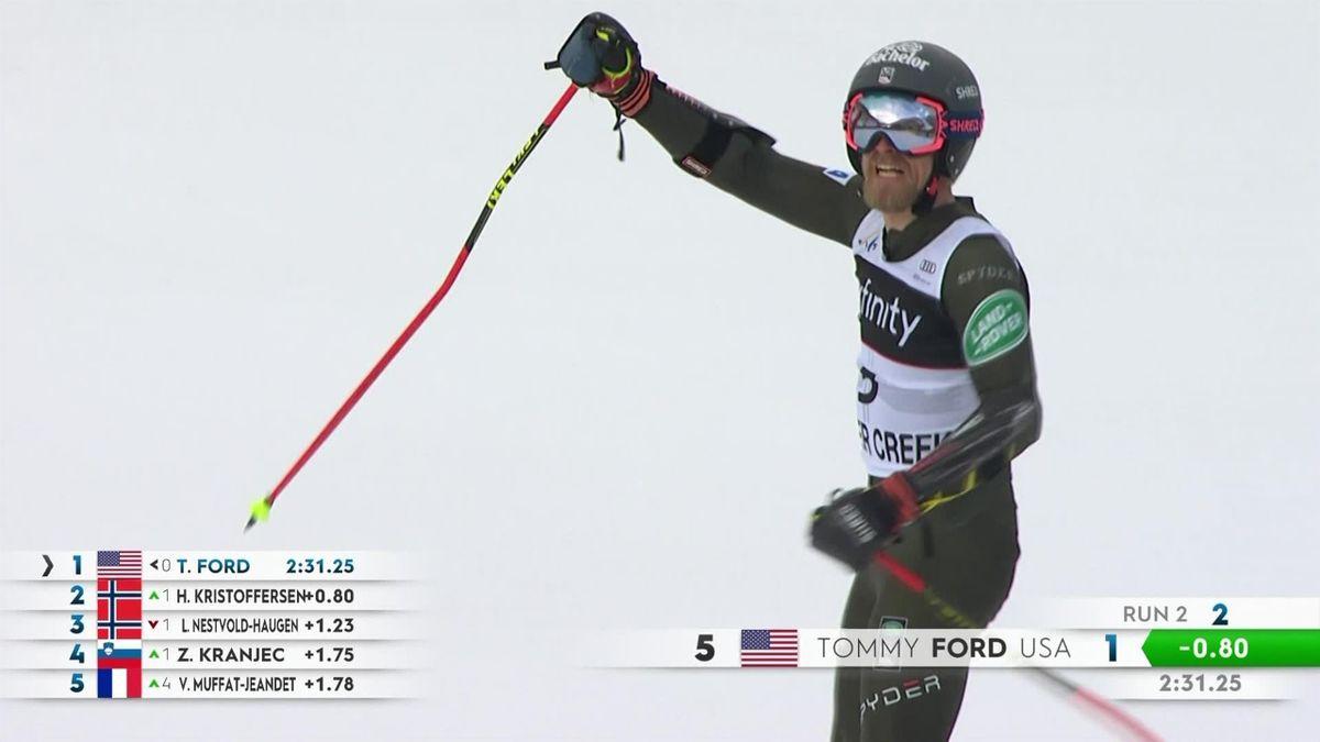 Alpine Skiing : 2nd leg Beaver Creek , Giant Slalom Men - 3 best runs