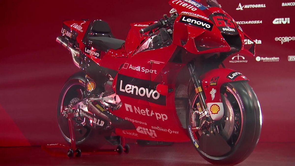 La Desmosedici Ducati GP21 di Pecco Bagnaia, Credit Photo Twitter
