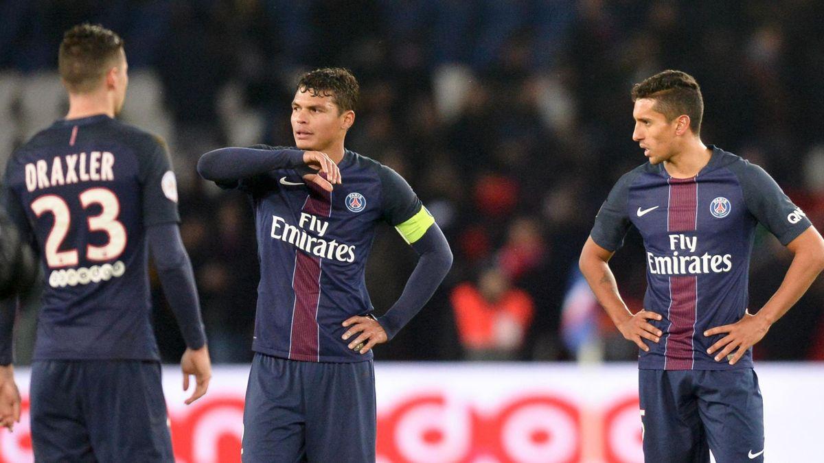 La déception de Thiago Silva et Marquinhos contre Monaco