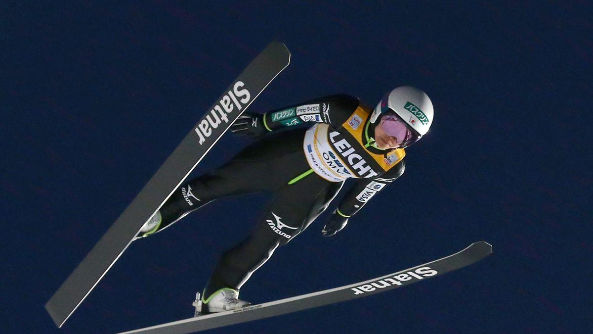 Sara Takanashi soars in the air