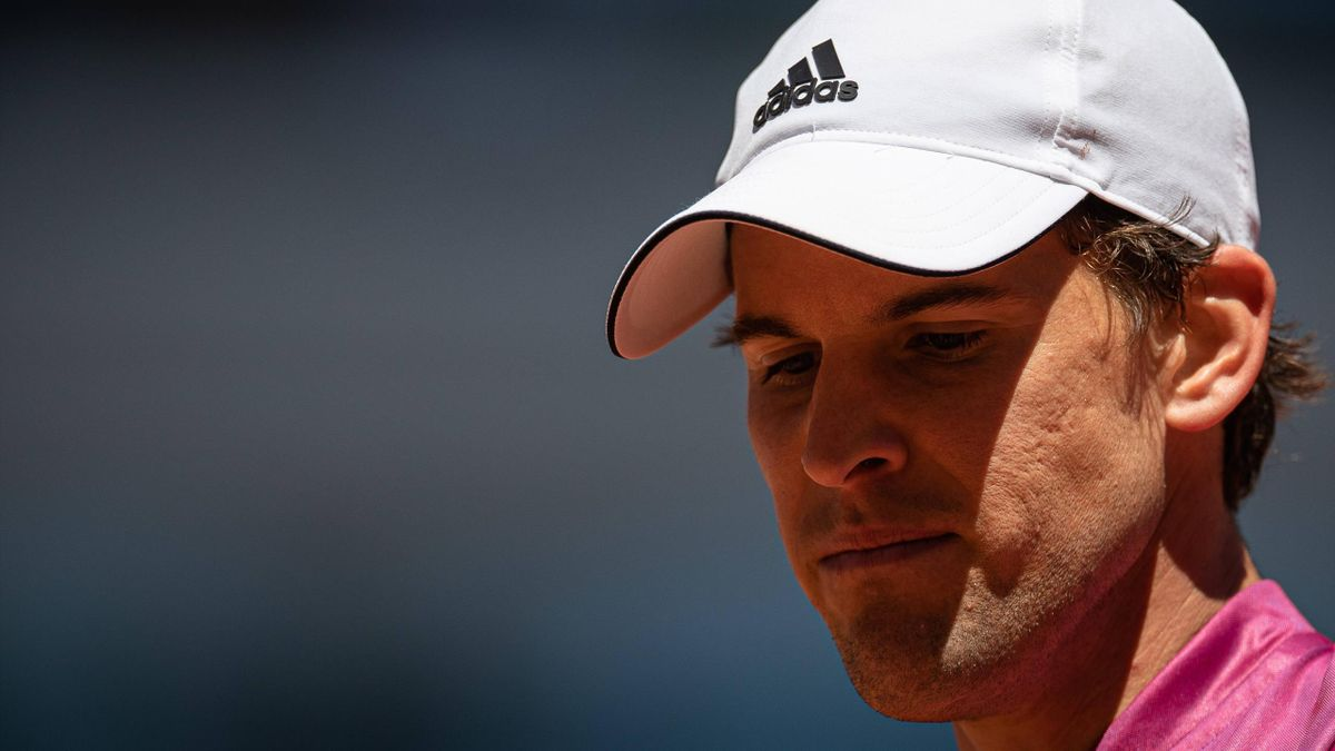 Dominic Thiem, battu par Pablo Andujar au 1er tour de Roland-Garros 2021