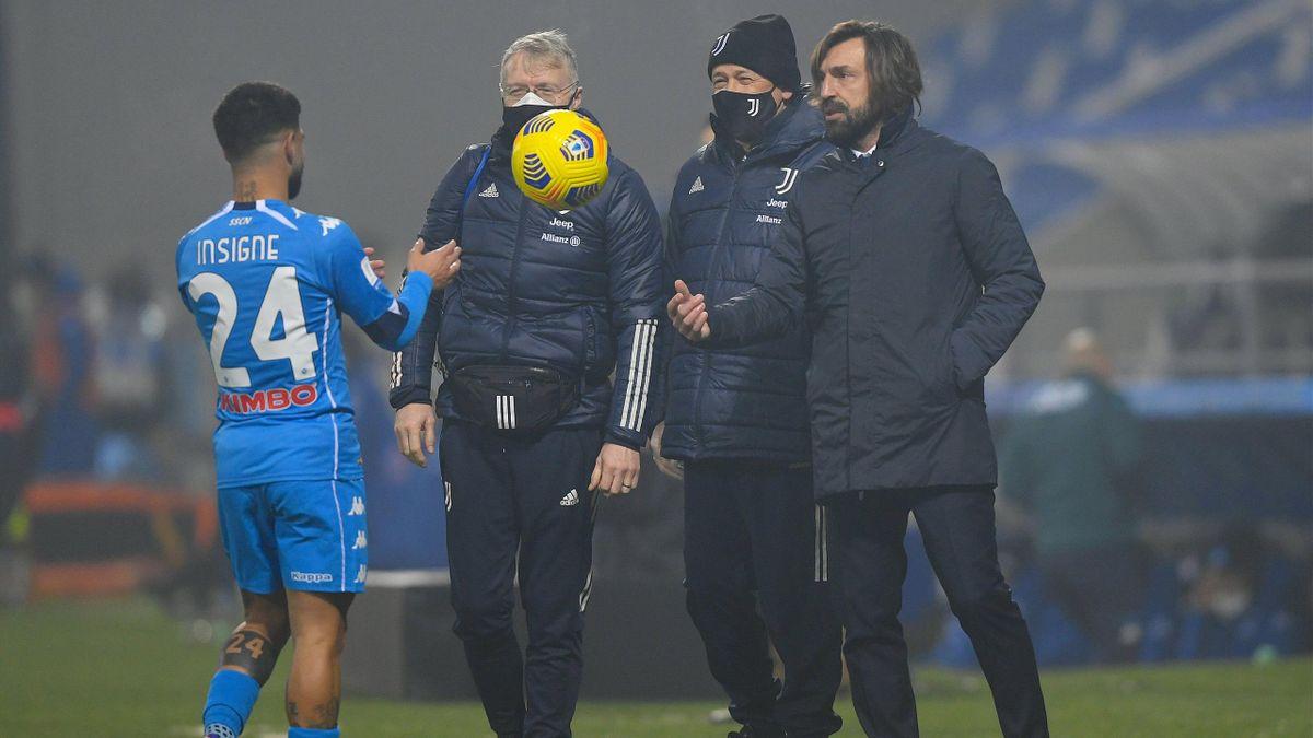 Andrea Pirlo, Lorenzo Insigne, Juventus-Napoli, Imago