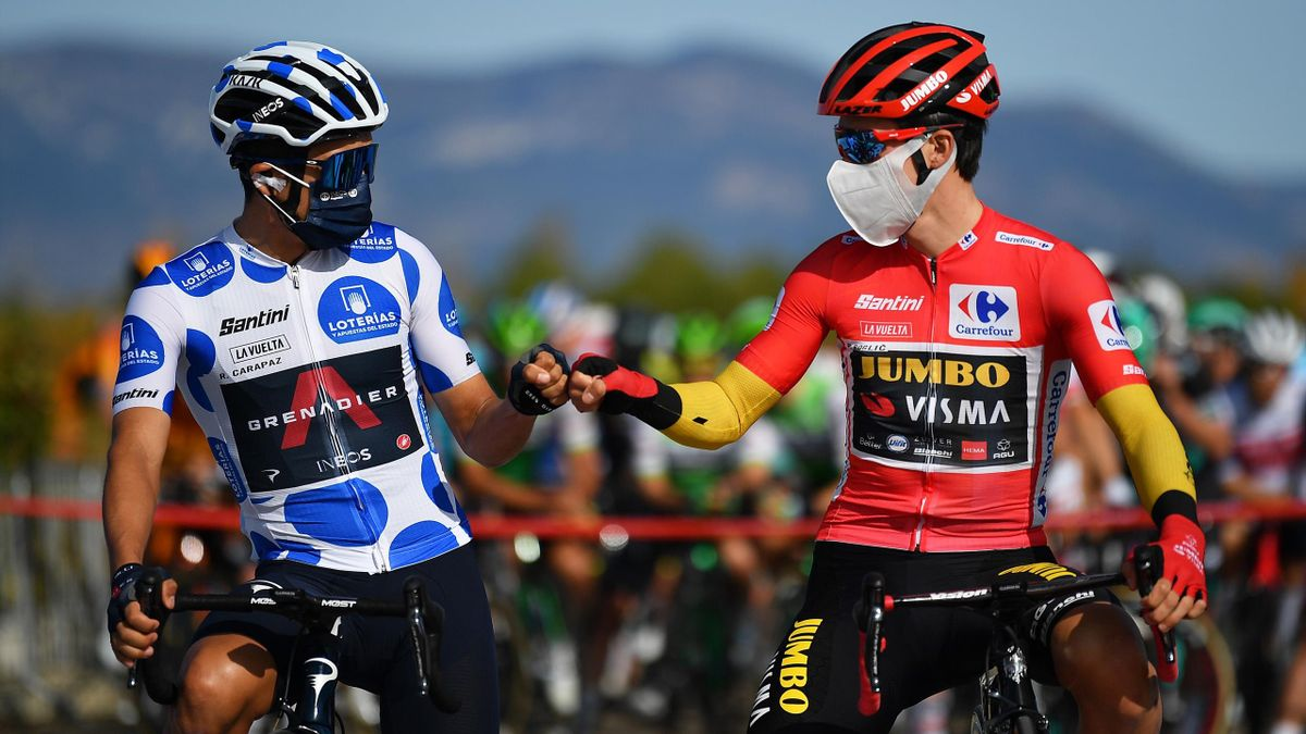 Richard Carapaz et Primoz Roglic sur la Vuelta