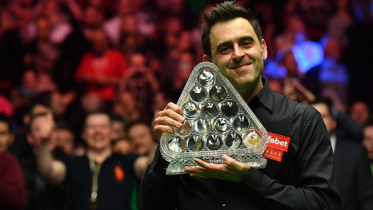 Ronnie O'Sullivan with his record seventh Masters title.