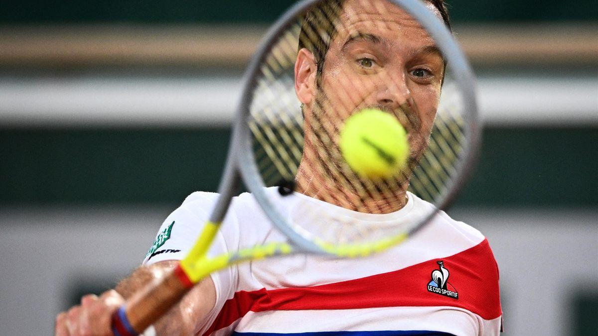 """Richard Gasquet, opposé à Rafael Nadal au 2e tour de Roland-Garros, en """"night session"""", le jeudi 3 juin 2021"""