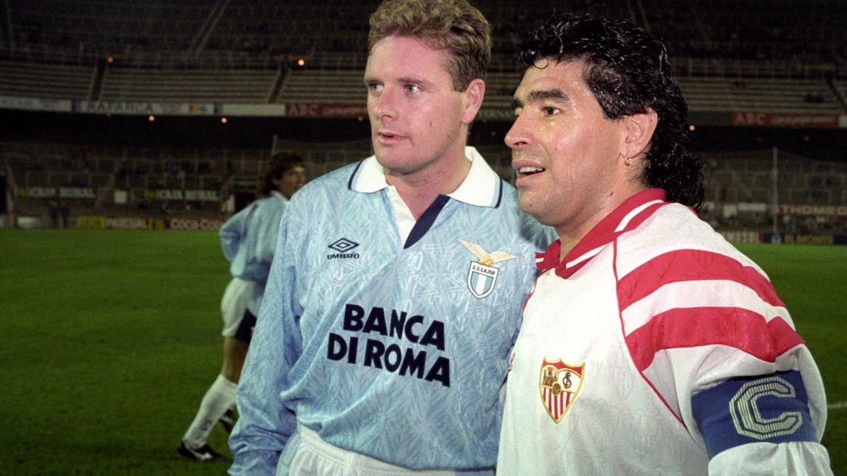 Paul Gascoigne & Diego Maradona