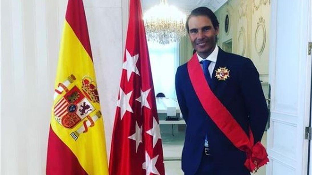"""Rafael Nadal decorat cu Înalta Cruce a Ordinului 2 Mai (""""Orden del Dos de May"""")"""