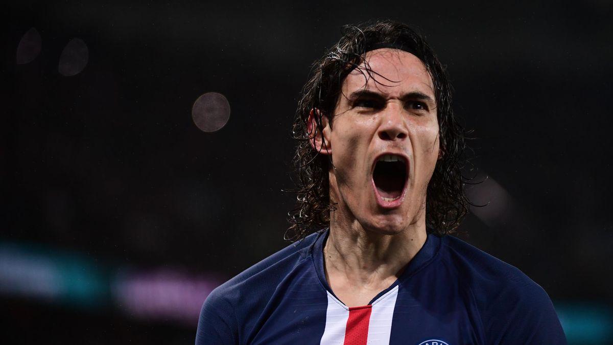 Edinson Cavani (PSG) buteur contre Bordeaux en Ligue 1 le 23 février 2020
