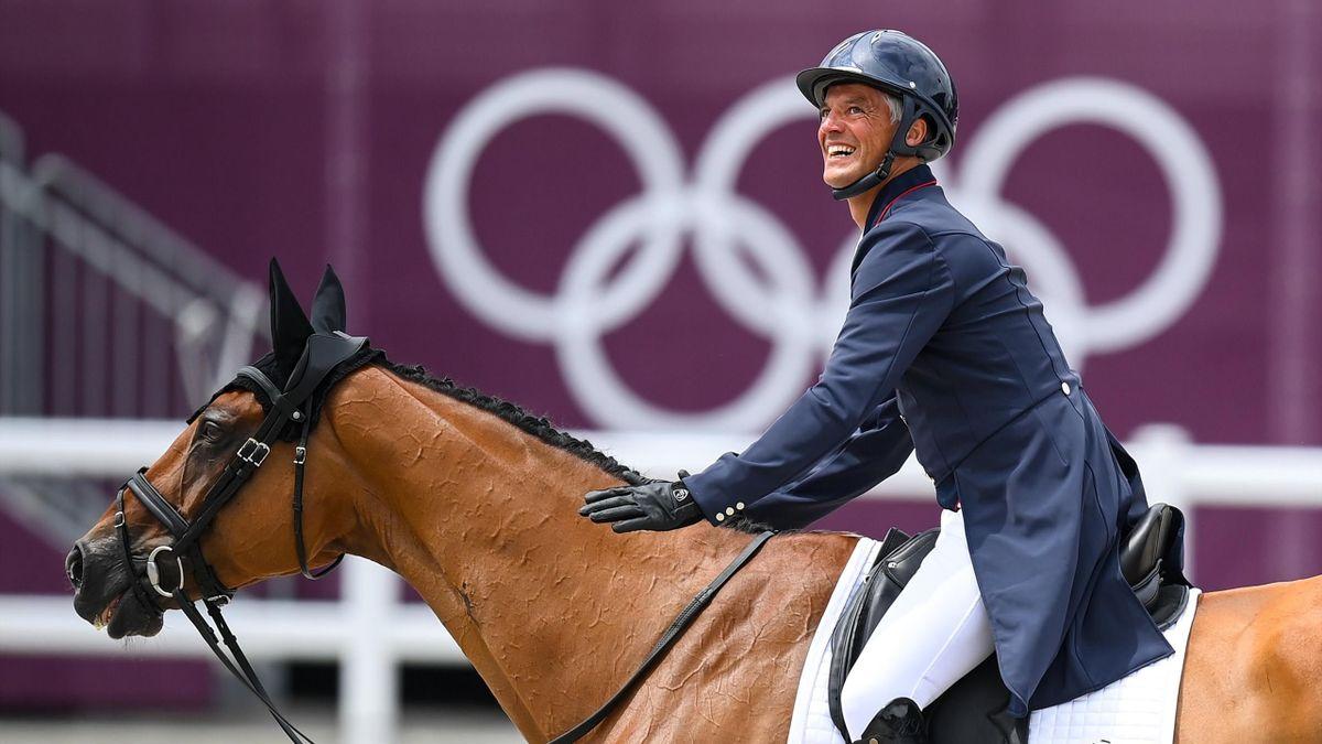 Karim Laghouag (Equipe de France d'équitation) lors des Jeux Olympiques de Tokyo 2020