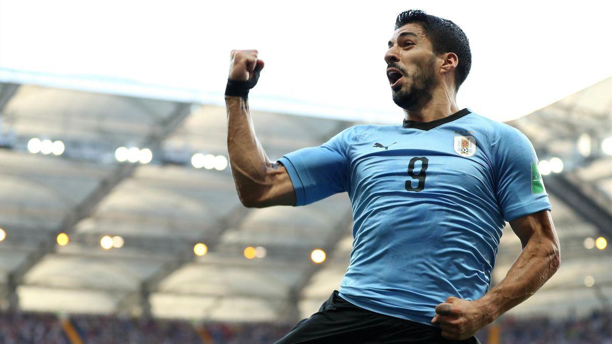 Luis Suarez (Uruguay), buteur face à l'Arabie saoudite.
