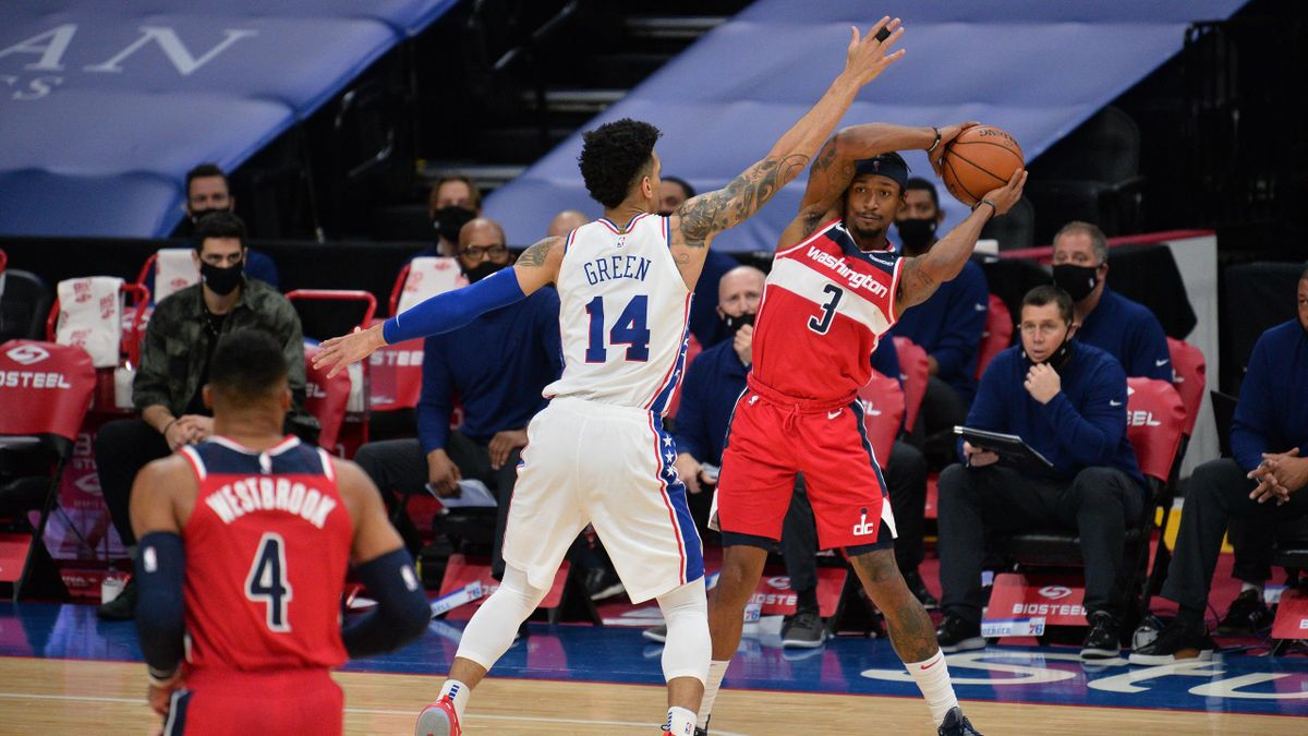 Bradley Beal in Washington Wizards-Philadelphia 76ers