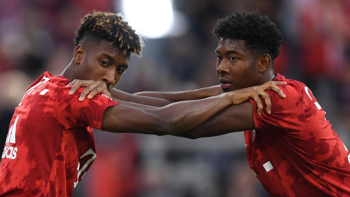 David Alaba and Kingsley Coman