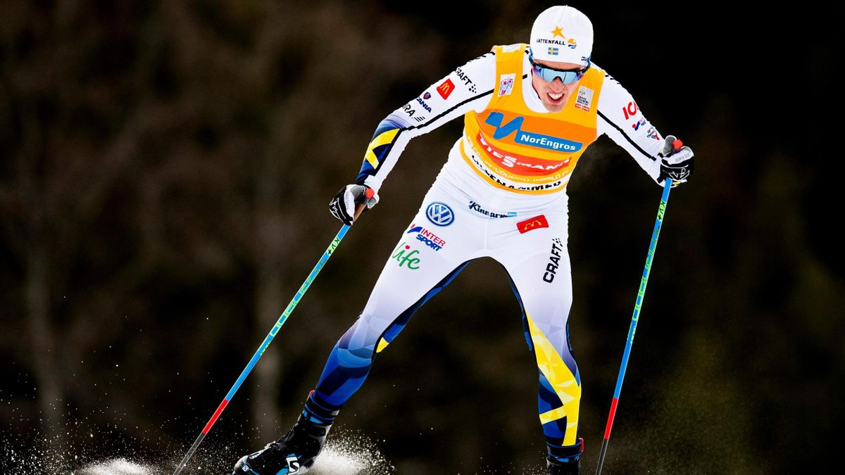 Calle Halfvarsson of Sweden competes during the men's Cross Country 10 km event at the FIS World Cup in Lillehammer, Norway December 3, 2016.