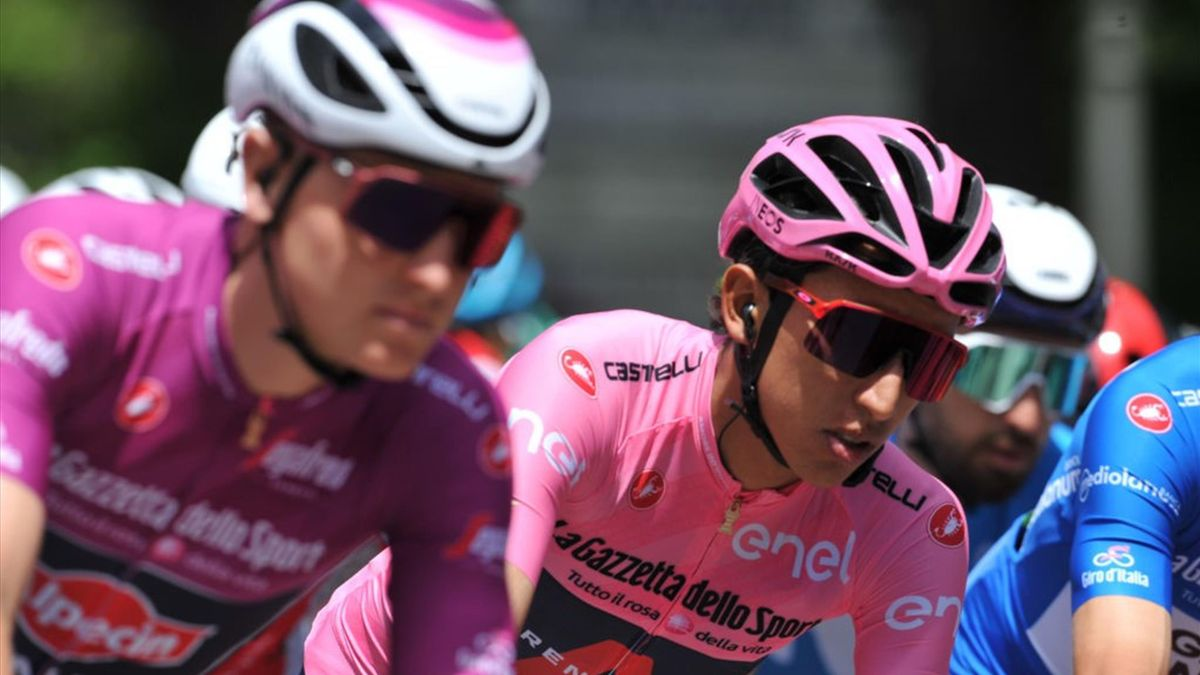 Merlier e Bernal durante la tappa di Foligno - Giro d'Italia 2021