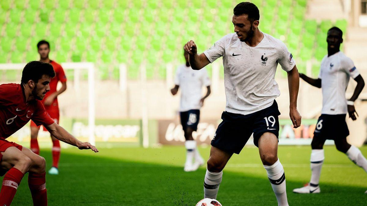 Amine Gouiri (France) face à la Turquie - Euro U19 2018