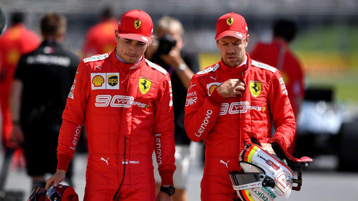 Charles Leclerc, Sebastian Vettel, Ferrari, Getty Images