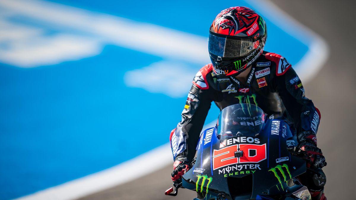 Fabio Quartararo (Yamaha Factory) au Grand Prix d'Espagne, le 1er mai 2021