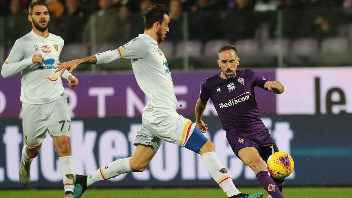 Franck Ribéry a été blessé lors de la réception de Lecce.